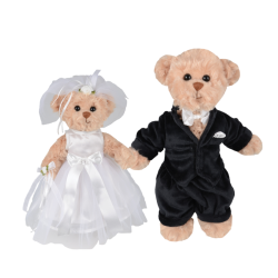 Wedding Bear Bride and Groom